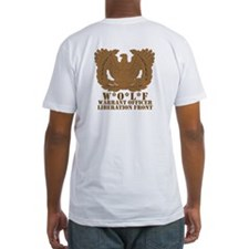 Not on Collar Front with WOLF back Shirt