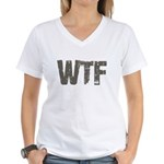 WTF Women's V-Neck T-Shirt
