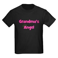 Grandma's Angel - Pink Kids Dark T-Shirt
