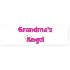 Grandma's Angel - Pink Bumper Bumper Sticker