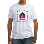 Mom Penguin Fitted T-Shirt