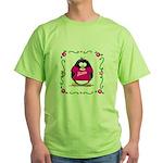 Mom Penguin Green T-Shirt