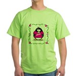 Mom Penguin Green T-Shirt