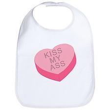 ANTI Valentine KISS MY ASS Bib