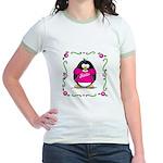 Mom Penguin Jr. Ringer T-Shirt