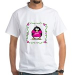 Mom Penguin White T-Shirt