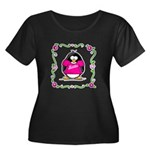 Mom Penguin Women's Plus Size Scoop Neck Dark T-Sh