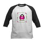 Mom Penguin Kids Baseball Jersey