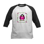 Mom Penguin Kids Baseball Jersey