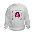 Mom Penguin Kids Sweatshirt