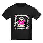Mom Penguin Kids Dark T-Shirt