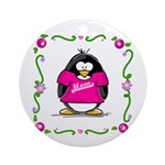 Mom Penguin Ornament (Round)