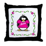 Mom Penguin Throw Pillow