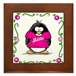 Mom Penguin Framed Tile