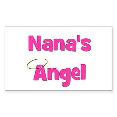 Nana's Angel - Pink Rectangle Decal