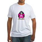 Hot Momma Penguin Fitted T-Shirt