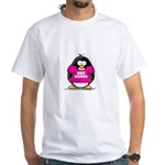 Hot Momma Penguin White T-Shirt