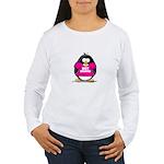 Hot Momma Penguin Women's Long Sleeve T-Shirt