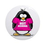 Hot Momma Penguin Ornament (Round)