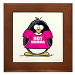 Hot Momma Penguin Framed Tile