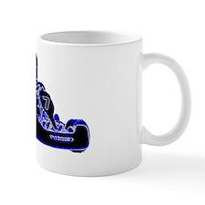 Kart Racing Blue and White Mug