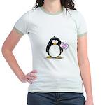 World's Greatest Mom Penguin Jr. Ringer T-Shirt
