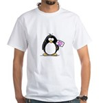 World's Greatest Mom Penguin White T-Shirt
