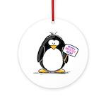 World's Greatest Mom Penguin Ornament (Round)