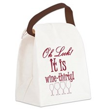 wine-thirty Canvas Lunch Bag