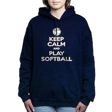 Keep Calm and Play Softball Hooded Sweatshirt