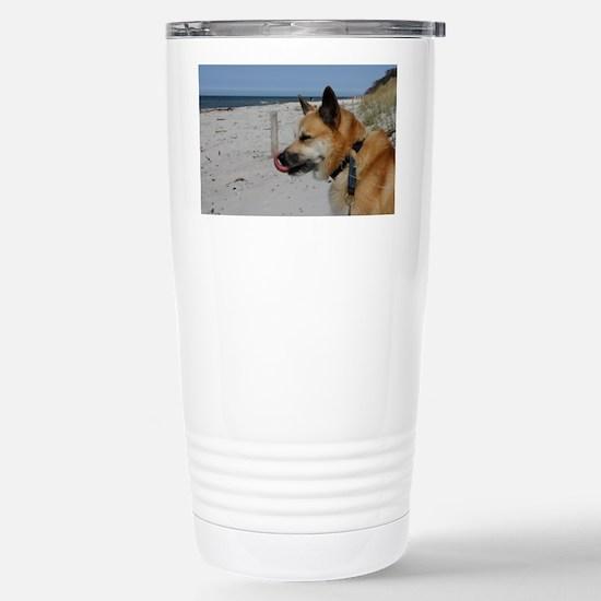 Icelandic Sheepdog 039 Stainless Steel Travel Mug