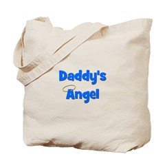 Daddy's Angel - Blue Tote Bag