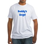 Daddy's Angel - Blue Fitted T-Shirt