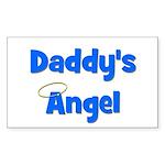 Daddy's Angel - Blue Rectangle Sticker