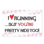 I Heart Running Postcards (Package of 8)