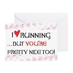 I Heart Running Greeting Cards (Pk of 20)