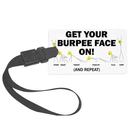 Burpee Face Large Luggage Tag