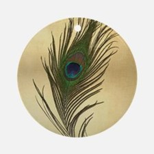 Peacock Feather Elegant Vintage Look Ornament (Rou