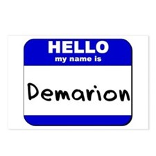hello my name is demarion  Postcards (Package of 8