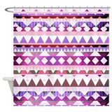 Purple tribal Shower Curtains