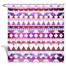 Mix #538, Pink Shower Curtain