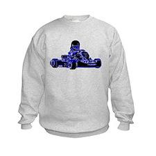 Kart Racing Blue and White Sweatshirt