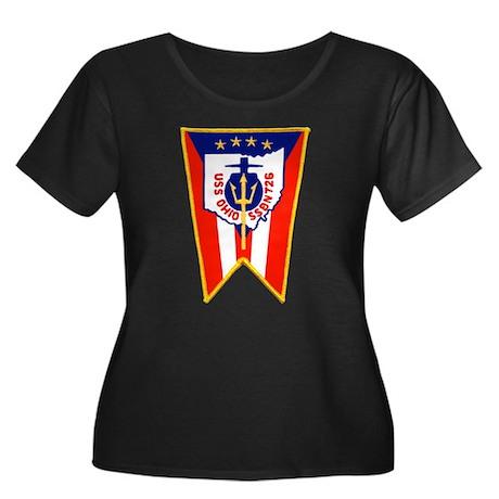 USS Ohio Women's Plus Size Scoop Neck Dark T-Shirt