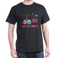 35th Anniversary Owl Couple T-Shirt