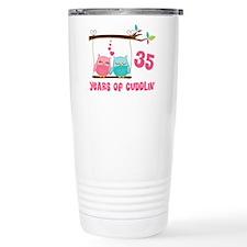 35th Anniversary Owl Couple Travel Mug