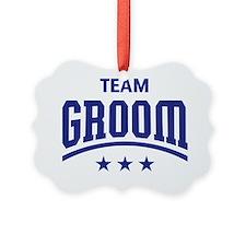 Team Groom (Stars, Blue) Ornament