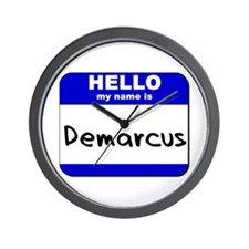 hello my name is demarcus  Wall Clock