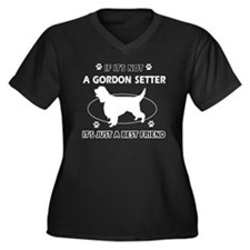 Gordon Sette Women's Plus Size V-Neck Dark T-Shirt