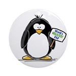 World's Greatest Dad Penguin Ornament (Round)