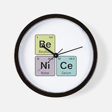 Be Nice - Be Ni Ce Wall Clock